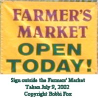 [Farmer's Market at Cold Spring Park open today from 1:30 p.m. to 6:00 p.m.].